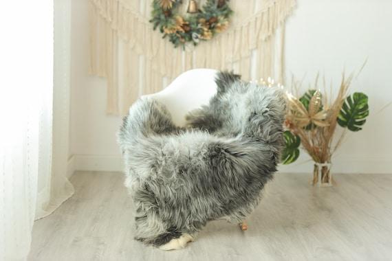 Real Sheepskin Rug Shaggy Rug Chair Cover Sheepskin Throw Sheep Skin Gray Ivory Sheepskin Home Decor Rugs #Gut23