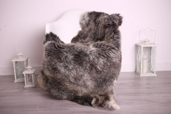 Real Sheepskin Rug Shaggy Rug Chair Cover Sheepskin Throw Sheep Skin Gray Brown Sheepskin Home Decor Rugs #9her1