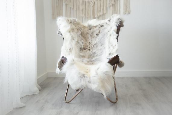 Reindeer Hide | Reindeer Rug | Reindeer Skin | Throw XXL EXTRA LARGE - Scandinavian Style Christmas Decor Brown White Hide #Reindeer76