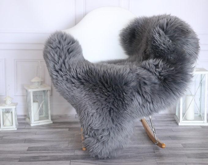 Sheepskin Rug | Real Sheepskin Rug | Shaggy Rug | Scandinavian Rug | | SCANDINAVIAN DECOR | Gray Sheepskin #MIHER52