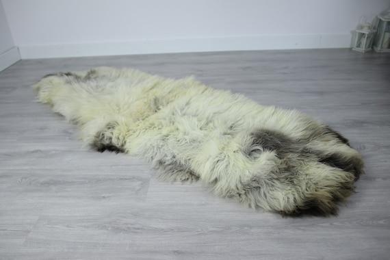 Double Sheepskin Rug | Long rug | Shaggy Rug | Chair Cover | Runner Rug | Beige Rug | Carpet | Beige Sheepskin | Brown Sheepskin LUSZY10