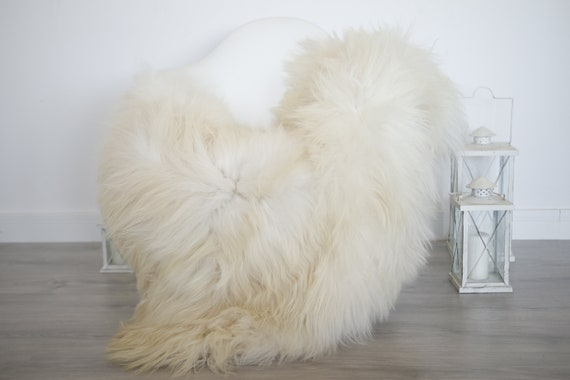 Real Icelandic Sheepskin Rug Scandinavian Decor Sofa Sheepskin throw Chair Cover Natural Sheep Skin Rugs Ivory Blanket Fur Rug #isleb34