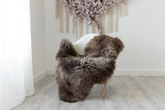 Real Sheepskin Rug Shaggy Rug Chair Cover Scandinavian Home Sheepskin Throw Sheep Skin Brown Sheepskin Home Decor Rugs #herdwik219