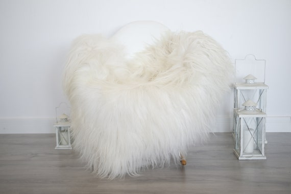 Real Icelandic Sheepskin Rug Scandinavian Decor Sofa Sheepskin throw Chair Cover Natural Sheep Skin Rugs Ivory Blanket Fur Rug #isleb35