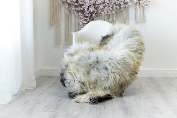 Real Sheepskin Rug Shaggy Rug Chair Cover Scandinavian Home Sheepskin Throw Sheep Skin Ivory Brown Sheepskin Home Decor Rugs #herdwik128