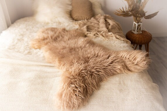 Champagne Pink Sheepskin |  Sheepskin Rug | pale pink | Sheepskin | Nursery decoration |  Pale Pink Throw  | Rose Gold Sheepskin
