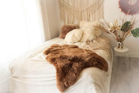 Real Sheepskin Rug Shaggy Rug Chair Cover Sheepskin Throw Sheep Skin Carmel Sheepskin Home Decor Rugs Sheep skin #10Her16