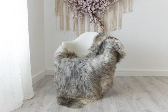 Real Sheepskin Rug Shaggy Rug Chair Cover Scandinavian Home Sheepskin Throw Sheep Skin Gray Brown Sheepskin Home Decor Rugs #herdwik207