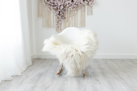 Real Icelandic Sheepskin Rug Scandinavian Home Decor Sofa Sheepskin throw Chair Cover Natural Sheep Skin Rugs Ivory White #Iceland315
