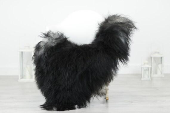 Real Icelandic Sheepskin Rug Scandinavian Decor Sofa Sheepskin throw Chair Cover Natural Sheep Skin Rugs Black Blanket Fur Rug #Babisl24