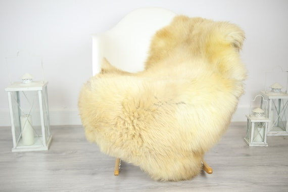 Sheepskin Rug | Real Sheepskin Rug | Shaggy Rug | Chair Cover | Sheepskin Throw | Beige Sheepskin | Home Decor | #JAC26