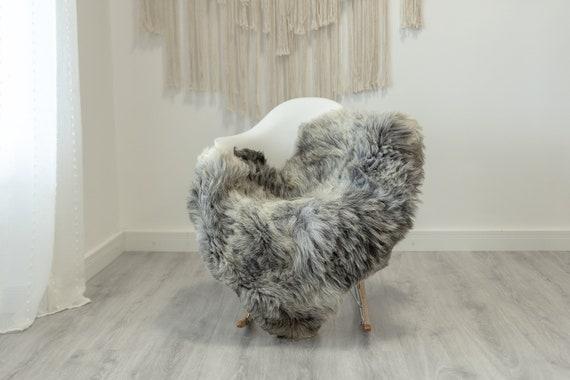 Real Sheepskin Rug Shaggy Rug Chair Cover Scandinavian Home Sheepskin Throw Sheep Skin White Gray Sheepskin Home Decor Rugs #Gut69