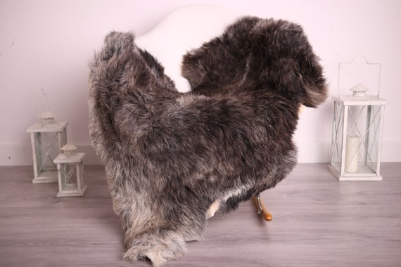 Real Sheepskin Rug Shaggy Rug Chair Cover Sheepskin Throw Sheep Skin Gray Brown Sheepskin Home Decor Rugs #9her13