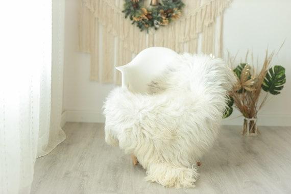 Real Sheepskin Rug Shaggy Rug Chair Cover Sheepskin Throw Sheep Skin Gray Ivory Sheepskin Home Decor Rugs #Gut19