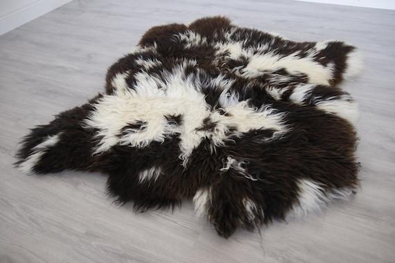 Real Icelandic Double Sheepskin Rug Scandinavian Decor Sofa Sheepskin throw Chair Cover Natural sheep skin rugs blanket fur rug #dgn