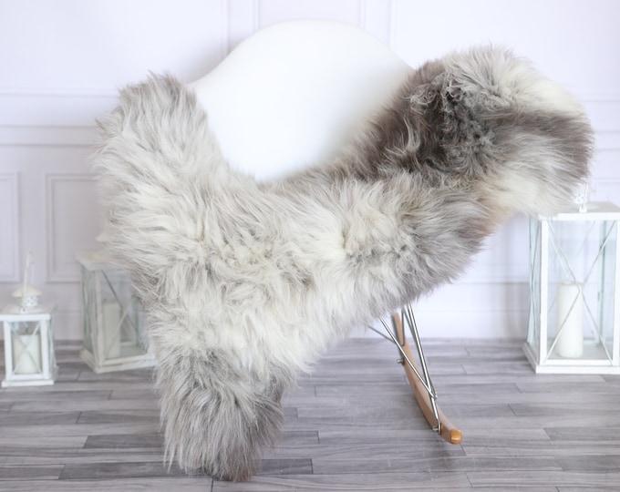 Sheepskin Rug | Real Sheepskin Rug | Shaggy Rug | Scandinavian Rug | | SCANDINAVIAN DECOR | Brown Gray Sheepskin #MIHER50