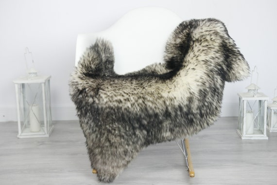 Real Sheepskin Rug Shaggy Rug Chair Cover Sheepskin Throw Sheep Skin Black White Sheepskin Home Decor Rugs #7her49