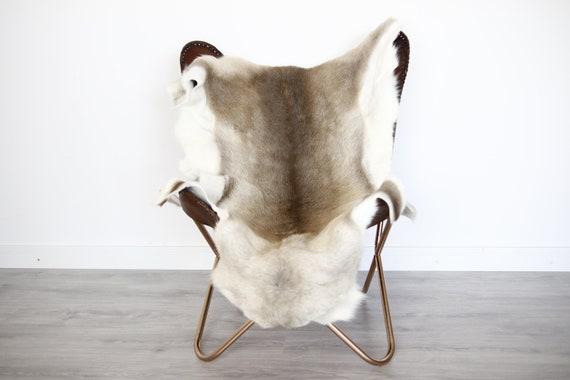 Reindeer Hide | Reindeer Rug | Reindeer Skin | Throw XXL EXTRA LARGE - Scandinavian Style Christmas Decor Brown Hide #Ire8