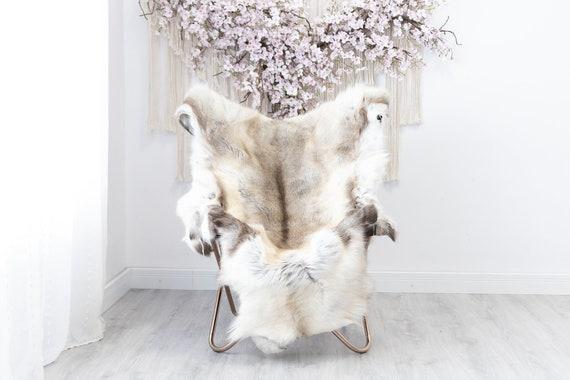Reindeer Hide | Reindeer Rug | Reindeer Skin | Throw XXL EXTRA LARGE - Scandinavian Style Christmas Decor Brown White Hide #Reindeer32