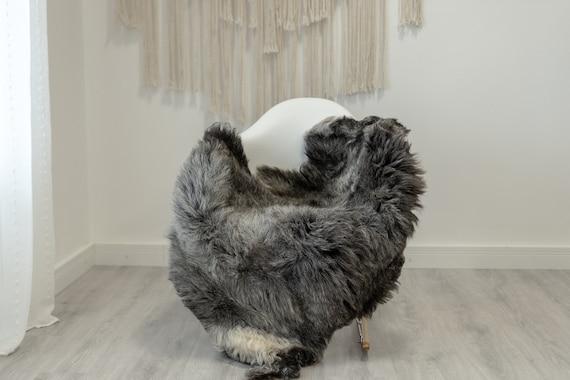 Real Sheepskin Rug Shaggy Rug Chair Cover Scandinavian Home Sheepskin Throw Sheep Skin White Gray Sheepskin Home Decor Rugs #Gut75