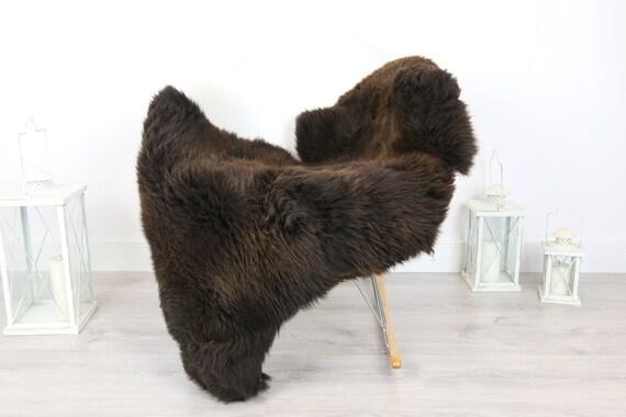 Sheepskin Rug | Real Sheepskin Rug | Shaggy Rug | Scandinavian Rug | Sheepskin Throw Brown Sheepskin | SCANDINAVIAN DECOR | #5HER20