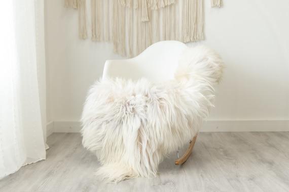 Real Icelandic Sheepskin Rug Scandinavian Home Decor Sofa Sheepskin throw Chair Cover Natural Sheep Skin Rugs Beige Ivory #Iceland485