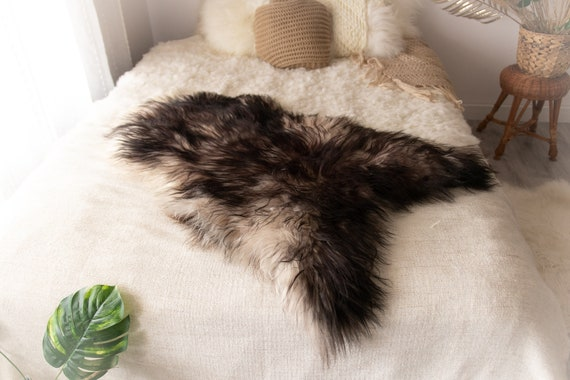 Real Icelandic Sheepskin Rug Scandinavian Decor Sofa Sheepskin throw Chair Cover Natural Sheep Skin Rugs Black Brown Blanket Fur Rug #Miesz3