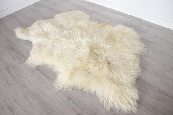 Real Icelandic Sheepskin Throw Scandinavian Decor Sofa Sheepskin throw Chair Cover Natural sheep skin rugs blanket fur Triple rug #Bezszy1
