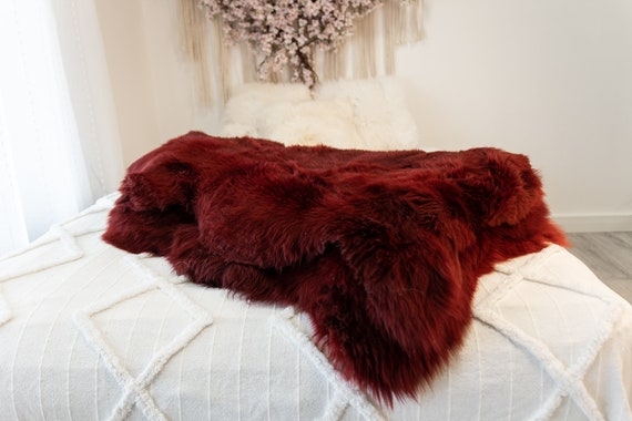 Genuine Natural Vine Colour Sheepskin Rug Sheepskin Throw Scandinavian Style | Scandinavian Rug | Sheep Skin -  WHOLESALE PACK 10 PIECES