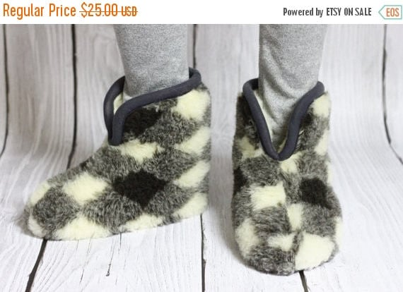 ON SALE Handmade Sheepskin Lambskin Slippers   100% real WOOL Medical Slippers   Women's Slippers   Men's Slippers   Warm slippers   Christm