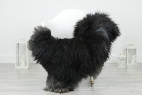 Real Icelandic Sheepskin Rug Scandinavian Decor Sofa Sheepskin throw Chair Cover Natural Sheep Skin Rugs Gray Blanket Fur Rug #Babisl37