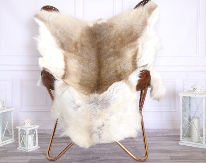 Reindeer Hide | Reindeer Rug | Reindeer Skin | Throw Large  - Scandinavian Style #22RE12