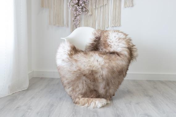 Real Sheepskin Rug Shaggy Rug Chair Cover Scandinavian Home Sheepskin Throw Sheep Skin White Brown Sheepskin Home Decor Rugs #herdwik192