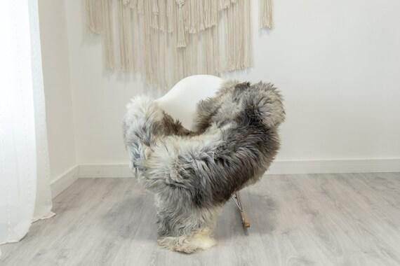 Real Sheepskin Rug Shaggy Rug Chair Cover Scandinavian Home Sheepskin Throw Sheep Skin White Gray Sheepskin Home Decor Rugs #Gut67