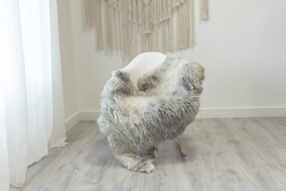 Real Sheepskin Rug Shaggy Rug Chair Cover Scandinavian Home Sheepskin Throw Sheep Skin White Gray Sheepskin Home Decor Rugs #Gut68