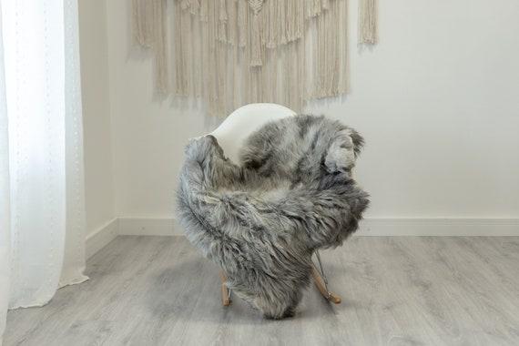 Real Sheepskin Rug Shaggy Rug Chair Cover Scandinavian Home Sheepskin Throw Sheep Skin White Gray Sheepskin Home Decor Rugs #Gut71