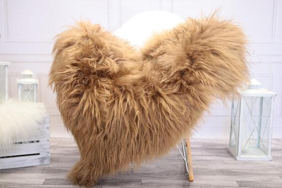 Icelandic Sheepskin | Real Sheepskin Rug | Blonde Sheepskin Rug | Fur Rug |  Home decor