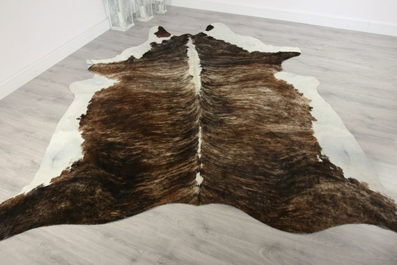 Premium Quality Giant XXXL Cowhide | Real Cowhide Rug | Brown White Carmel Cowhide | #COW17