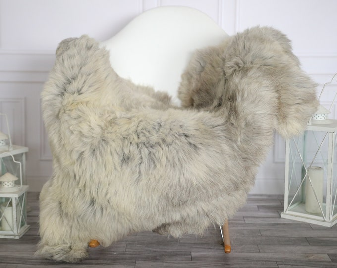 Sheepskin Rug | Real Sheepskin Rug | Shaggy Rug | Sheepskin Throw | Super Large Sheepskin Rug Gray Brown| Home Decor | #HERMAJ75