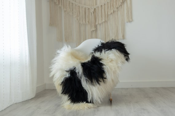 Real Icelandic Sheepskin Rug Scandinavian Decor Sofa Sheepskin throw Chair Cover Natural Sheep Skin Rugs White Ivory #Iceland390