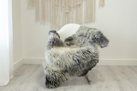 Real Sheepskin Rug Shaggy Rug Chair Cover Scandinavian Home Sheepskin Throw Sheep Skin White Gray Sheepskin Home Decor Rugs #Gut81