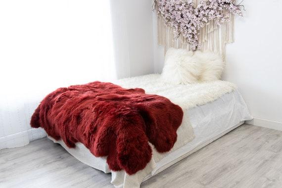 Quad Vine Merino Sheepskin Rug | Long rug | Shaggy Rug | Chair Cover | Area Rug | Vine Rug | Carpet | Vine Sheepskin Merino Sheep Skin