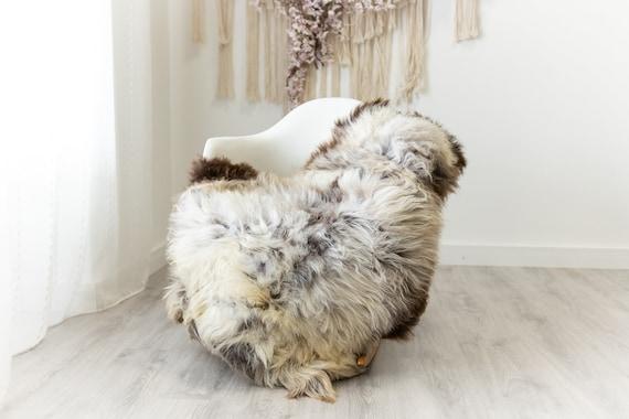 Real Sheepskin Merino Rug Shaggy Rug Chair Cover Sheepskin Throw Sheep Skin Sheepskin Home Decor Rugs Blanket White Brown #herdwik103