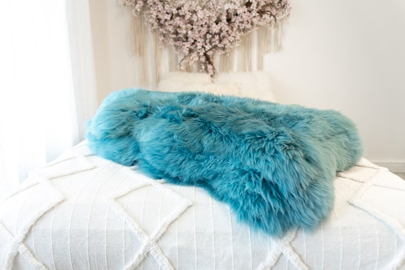 Genuine Natural Torquoise Sheepskin Rug Sheepskin Throw Scandinavian Style | Scandinavian Rug | Sheep Skin -  WHOLESALE PACK 10 PIECES