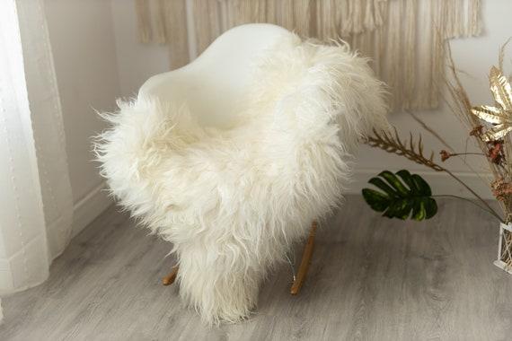 Real Icelandic Sheepskin Rug Scandinavian Decor Sofa Sheepskin throw Chair Cover Natural Sheep Skin Rugs White Ivory Fur Rug #Urisl17
