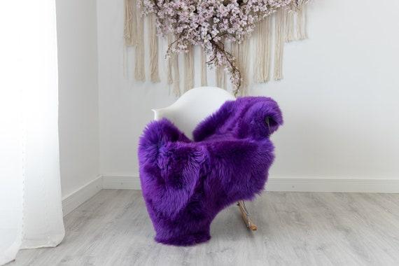 Real Sheepskin Rug Shaggy Rug Chair Cover Scandinavian Home Sheepskin Throw Sheep Skin Purple Sheepskin Home Decor Rugs #herdwik202