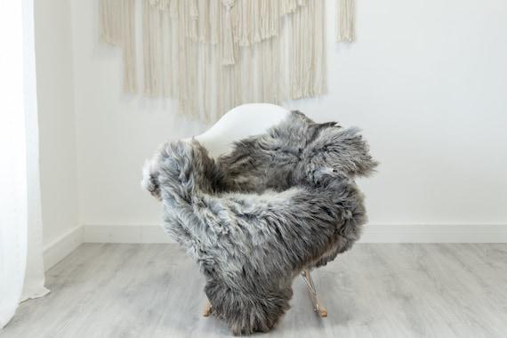 Real Sheepskin Rug Shaggy Rug Chair Cover Scandinavian Home Sheepskin Throw Sheep Skin White Gray Sheepskin Home Decor Rugs #Gut59
