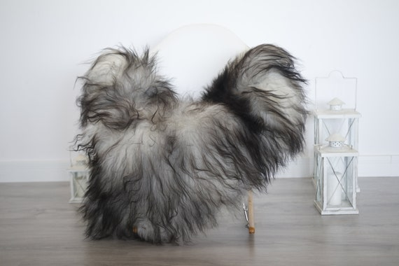 Real Icelandic Sheepskin Rug Scandinavian Decor Sofa Sheepskin throw Chair Cover Natural Sheep Skin Rugs Gray Blanket Fur Rug #isleb38