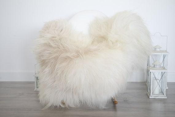 Real Icelandic Sheepskin Rug Scandinavian Decor Sofa Sheepskin throw Chair Cover Natural Sheep Skin Rugs Ivory Blanket Fur Rug #isleb22