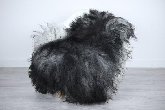 Icelandic Sheepskin | Real Sheepskin Rug | | Large Sheepskin Rug Gray | Fur Rug | Homedecor | Sheepskin Throw | Long fur #colisl33